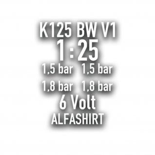 V1 K125 BW SET Motorrad Bundeswehr Aufkleber Reifendruck Volt 10x7cm#A4302