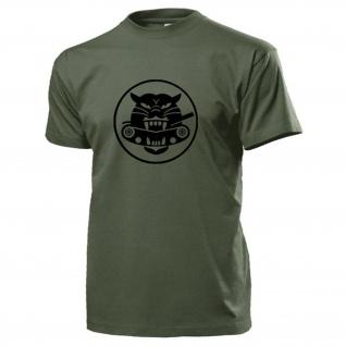 Tank eating tiger Us Army Panzer Wappen Logo Abzeichen Amerika - T Shirt #17386