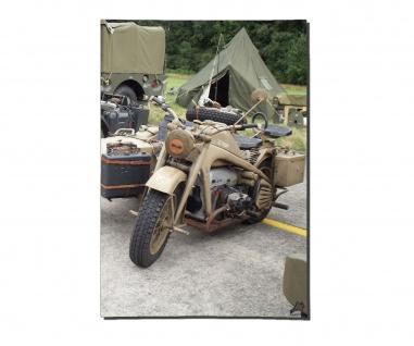 Poster KS 750 Gespann Motorrad Gespann Beiwagen Bild Foto ab 30x21cm #30956