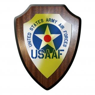 Wappenschild / Wandschild -USAAF Air Force Luftwaffe USA US Amerika #9666
