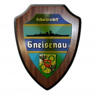 Wappenschild Schlachtschiff Gneisenau Silhouette Wappen Abzeichen #12068