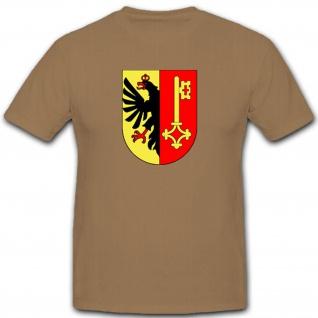 Genf Wappen Adler Schlüssel Schweiz Abzeichen 1600 - T Shirt #2281