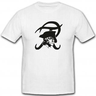 Friedrich der Große Preußen Logo Wappen Gesicht König - T Shirt #3153