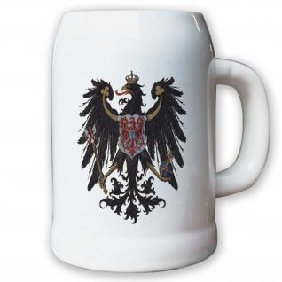 Krug / Bierkrug 0, 5l - Preußische Provinz Brandenburg Flagge Fahne Wappen #9422