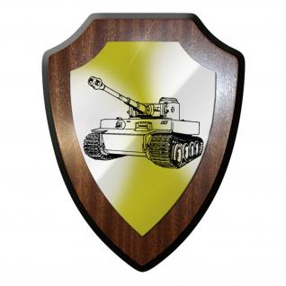 Wappenschild / Wandschild -Tiger 1 E Panzer Wk2 Soldaten Richtschütze #9665