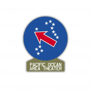 Aufkleber/Sticker Pacific Ocean Area Theater US Army USA Amerika 7x6cm A1190