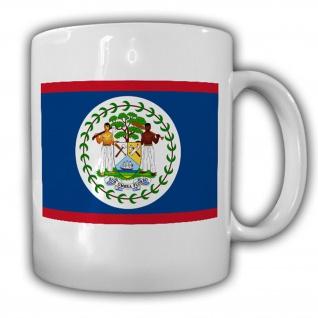 Belize Fahne Flagge Amerika Sub umbra floreo Ich blühe im Schatten Tasse #13364