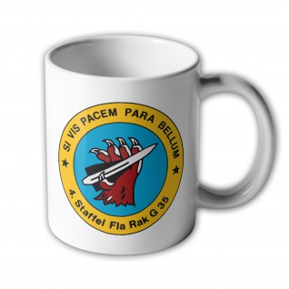 Tasse 4 Staffel FlaRak G35 Si vis pacem para bellum Einheit BW #35392