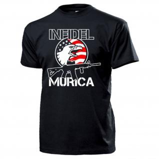 Infidel Murica AR15 USA Amerika Adler US Army Washington DC T Shirt #17161