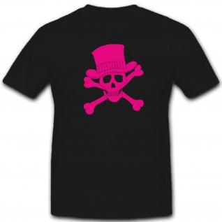 Skull Totenkopf Schädel Hut Pirat Fun Humor Spaß - T Shirt #2168