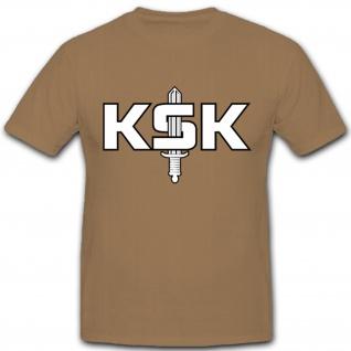 KSK Schriftzug mit Schwert Bundeswehr Militär- T Shirt #8107