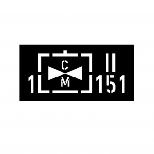 Lackierschablonen Taktisches Zeichen 1 Heeresfliegerregiment 151 14x32cm#A4338