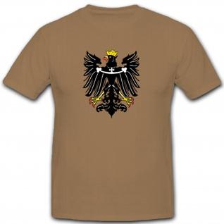 Schlesien Adler Wappen Emblem Abzeichen Deutschland Polen - T Shirt #9694