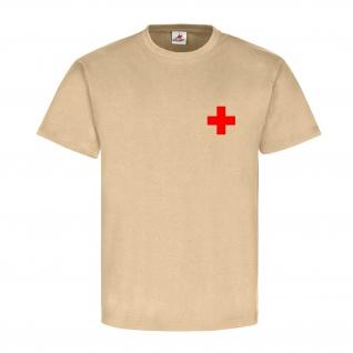 Medic 2 Sani Sanitäter Rot Kreuz First Aid Erste Hilfe Einsatz - T Shirt #17246