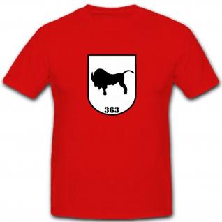 Pzbtl363 Panzerbataillon Bundeswehr Wappen Abzeichen Bison - T Shirt #3998