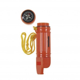 Trekking Notfallset Outdoor Survival wasserdichte Box Kompass Signalpfeife #16067