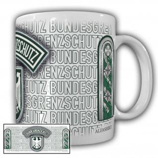 Tasse Stabsmeister BGS Bundesgrenzschutz Wappen Abzeichen Andenken #23710
