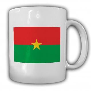 Burkina Faso Flagge Fahne Afrika - Tasse Becher Kaffee #13430
