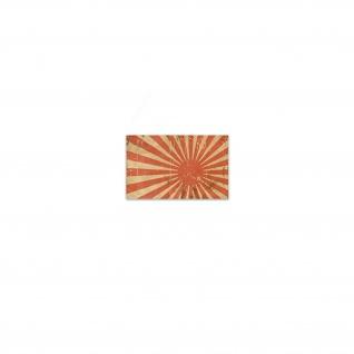 Alte Japanische Kriegsfahne Aufkleber Sticker Kyokujitsuki Japan 11x7cm#A3643