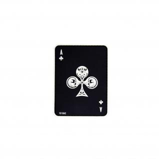 Kreuz Ass Patch Airsoft Kartenspiel Aufnäher Softair 3D Game Poker 8x6cm #20292