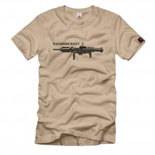 Panzerfaust 3 Bundeswehr Waffe Panzerabwehrhandwaffe Militär T Shirt #425
