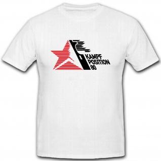 Kampf Position 80 NVA DDR Erinnerung Raketen Waffentechnischer - T Shirt #10906