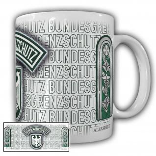 Tasse Regierungshauptsekretär BGS Bundesgrenzschutz Wappen Abzeichen #23731