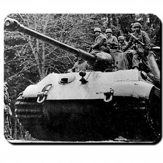Königstiger mit Fallschirmjägern Panzer Tiger 2 Ardennen Offensive Mauspad #9555