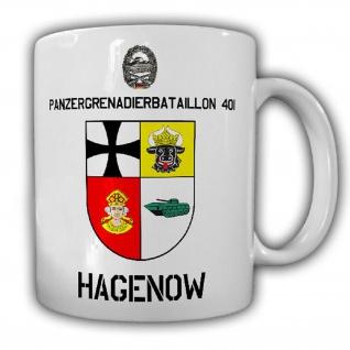 Tasse Panzergrenadierbataillon 401 Hagenow PzGrenBtl BW Wappen Abzeichen #25483