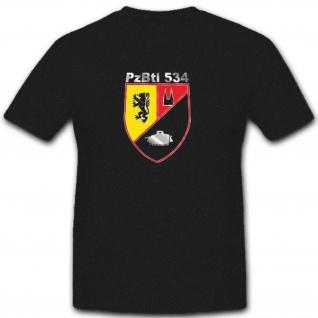 Panzerbataillon Pzbtl 534 Bundeswehr Wappen Abzeichen Armee - T Shirt #3827