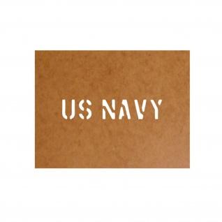 US Navy Schablone Bundeswehr Ölkarton Lackierschablone 2, 5x13cm #15112
