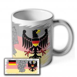 Tasse Bundes Republik Deutschland Flagge Fahne München Berlin Landkarte #37010