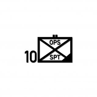 Unterstützungsbataillon Einsatz 10 UstgBtl Eins Taktisches Zeichen 5x5cm #A4608