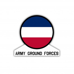 Aufkleber/Sticker Army Ground Forces US Army USA Amerika Wappen 7x7, 5cm A1092