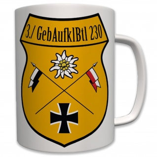 Militär 3 Gebaufklbtl 230 Bundeswehr Wappen Abzeichen - Tasse #6415