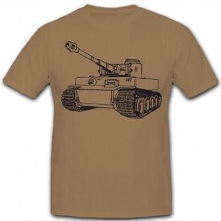 Tiger 1 E Panzer Panzerkampfwagen Tank WK 2 - T Shirt #5383