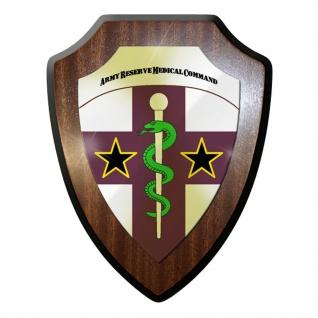 Wappenschild / Wandschild / Wappen - Army Reserve Medical Command USA #11656