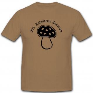 205 Infdiv 205 Infanterie Division Wh Wappen Abzeichen Emblem - T Shirt #3051