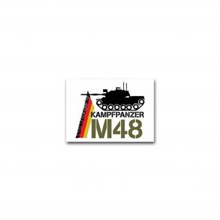 Aufkleber/Sticker M48 Panzer US Army Amerika Kampfpanzer Patton 10x7cm #A2366