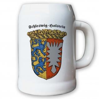 Krug / Bierkrug 0, 5l - Provinz Schleswig-Holstein Landeswappen Stadtwappen #9495