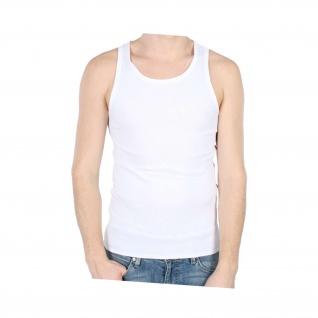 Unterhemd Alfashirt Shirt Baumwolle Blanko Weiss Ärmellos - Tanktop #26833