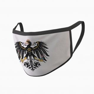 Mundmaske Preußen Adler alter Fritz Deutschland Heimat Stolz bedruckt #34646