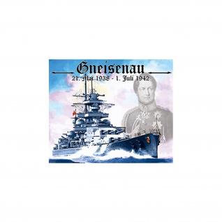 Aufkleber/Sticker Gneisenau Schlachtschiff Marine 6x7cm #A968