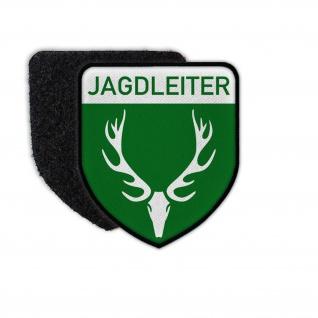 Patch Jägerleiter Jäger Aufsicht Treibjagd Abzeichen Aufnäher Klett#36560