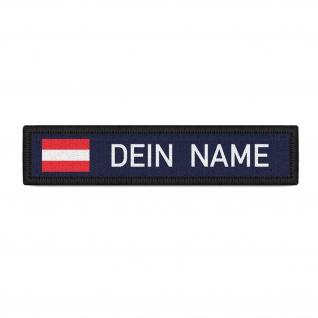 Namenspatch Österreich Navy Name Patch Aufnäher Wunschname Austria Klett#36616