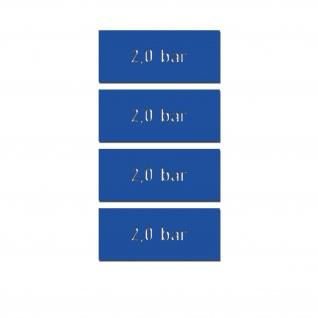 Reifendruck 2, 0 bar Druck Reifen Beschriftung Aufkleber Kennzeinung #A5141