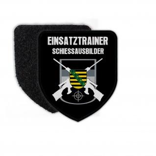 Patch Wappen Polizei Justiz Sachsen Einsatztrainer Aufnäher #25969