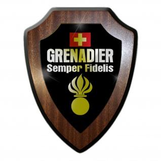 Grenadier Semper Fidelis Panzergrenadier Schweizer Armee Wappenschild #19799
