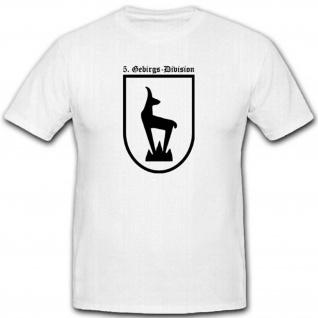 Gebdiv Wh Einheit Wk Wappen Abzeichen Gebirgstruppe - T Shirt #2671