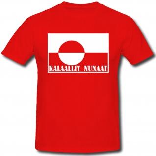 Kalaallit Nunaat Grönland Fahne Flagge Wappen Abzeichen - T Shirt #473